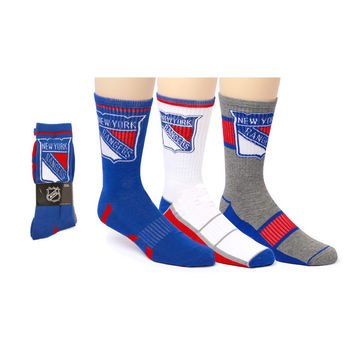 New York Rangers Crew Socks | x 3
