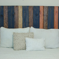 Barn Walls Full Headboard - Cabin Mix Color. Hang on the wall like picture frames. Easy Installation