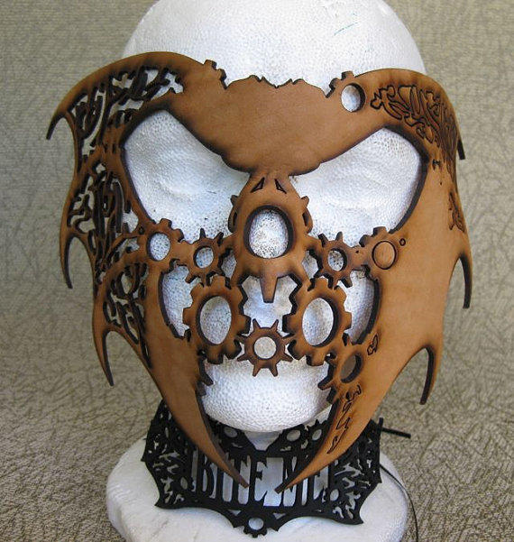 Halloween Steampunk/Fantasy Leather Mask by BSDStudios on Etsy