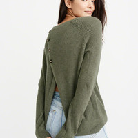 Womens Button-Back Pullover | Womens Tops | Abercrombie.ca