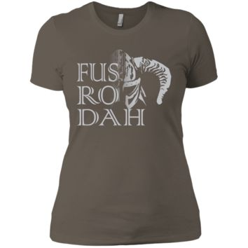 Skyrim Fus Dah T-Shirt NL3900 Next Level Ladies' Boyfriend T-Shirt