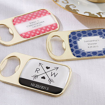 SET Bottle Opener Wedding Favor Personalized Wedding Favor Bottle Opener Pink and Gold Favor Pink and Gold Bridal Shower - SET of 12