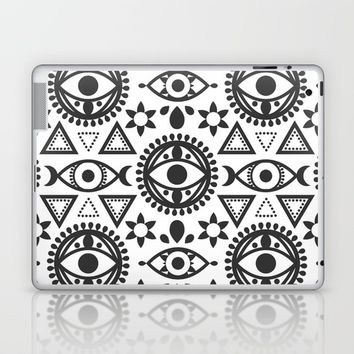 Geometric Evil Eye Laptop & iPad Skin by Musing Tree Designs