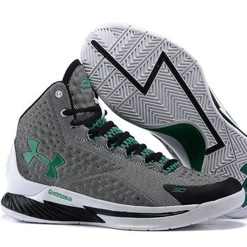 Under Armour Curry  Black /Gray/Green  Basketball Shoes