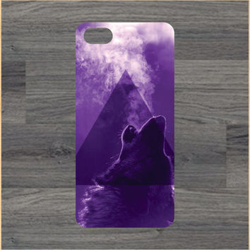 Triangle Hipster Wolf  iPhone 4/4S 5/5C 6/6+ Case and Samsung Galaxy S3/S4/S5