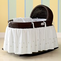 Espresso Hand-Woven Baby Bassinet in Cribs & Bassinets | The Land of Nod