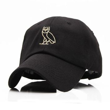 ONETOW High Quality Outdoor Visor black Strapback OVO Drake Hotline Bling hats 6 panel snapba