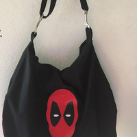 Dead pool Boho H0b0 Slouchy bag 2 sizes Meduim or Large size Diaper Bag Travel Gym Bag