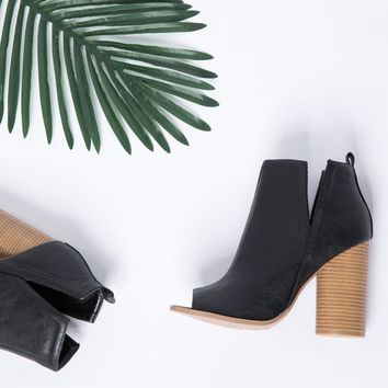 Isabel Cut Out Heeled Booties