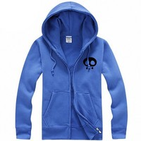 MapleClan Heisenberg Walter White Sketch Zipper Hoody Coat Blue - L