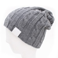 ZLYC Men's Simple Grey Knit Hat
