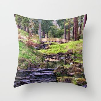 Life Flows Throw Pillow by Vicki Field