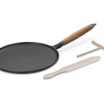 Staub Cast-Iron Crêpe Pan with Spreader & Spatula