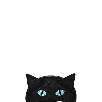 Kate Spade Cat's Meow Cat Coin Purse Black Multi ONE
