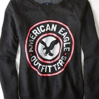AEO 's Real Soft Signature Graphic Sweatshirt