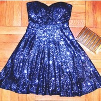 Sequin Sweetheart Dress