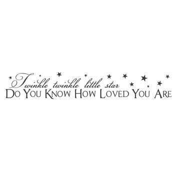 "wall quotes wall decals - ""Little Star"""