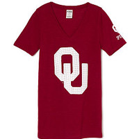 University of Oklahoma Fitted V-Neck Tee - PINK - Victoria's Secret