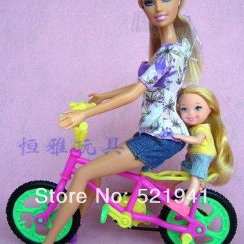 Free Shipping,Girl birthday vintage gift bike accessories for Barbie doll