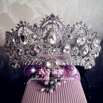 2015 Vintage Peacock Crystal Tiara Bridal Hair Accessories For Wedding Quinceanera Tiaras And Crowns Pageant Rhinestone Crown = 1932829060