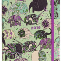 2016 Weekly Planner 6x8 Elephant Train Flexi Engagement Calendar