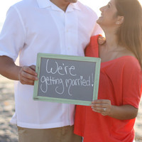 Chalkboard Photo Prop Wedding Engagement Sign Rustic Chic (item P10623)