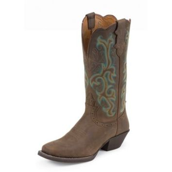 Justin Women's 12 in. Stampede Boot, Sorrel Apache Brown
