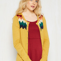 You Heard That Bright Cardigan in Saffron | Mod Retro Vintage Sweaters | ModCloth.com