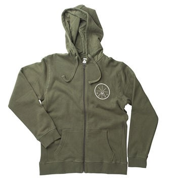 Men's Venn Diagram & Golden Circle Zip Hoodie