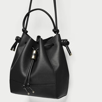 KNOTTED BUCKET BAG DETAILS