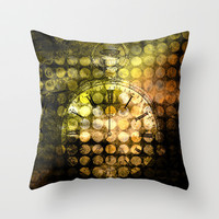 MELANGE WITH A CLOCK, Throw Pillow. ©by Pia Schneider [atelier COLOUR-VISION]