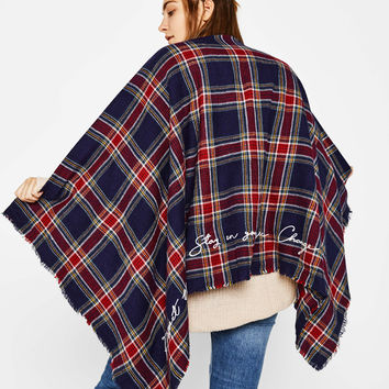 Checked scarf - Scarves & capes - Bershka United States