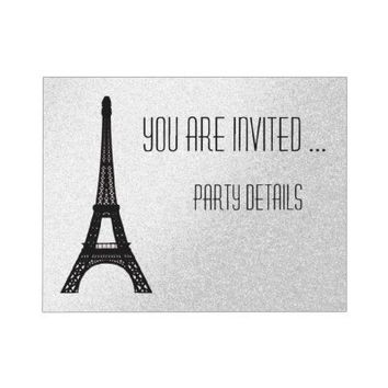 Paris Eiffel Tower Personalized Invitations from Zazzle.com