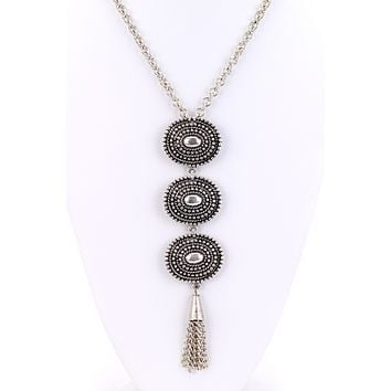 Triple Pendant Turkish Long Necklace
