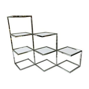 Pre-owned Baughman Chrome Floating Etagere