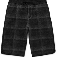 Public School - Tryan Checked Textured-Flannel Shorts