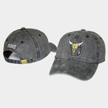 cc auguau Travis Scott Madness Anti Tour Bull Rodeo Cactus Golf Hat