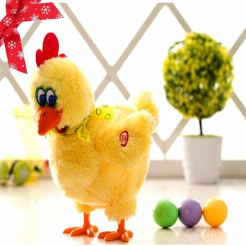 Electric Hen Musical Dancing Laying Egg Chicken Crazy SingingDancing Plush Toy