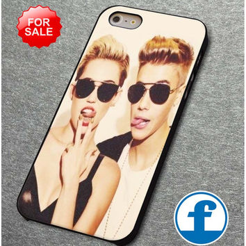 Justin bieber ,Miley cyrus for iphone, ipod, samsung galaxy, HTC and Nexus phone case