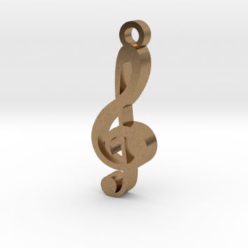 Treble clef by Jilub on Shapeways