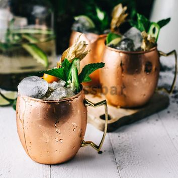 Smooth Moscow Mule Drum-Copper plated Mug