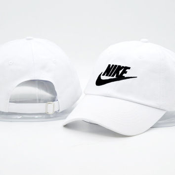 984643aa6ed ... official white nike authentic dri fit low profile swoosh front  adjustable cap c7f8a be7c9