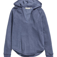 V-neck Hooded Sweatshirt - from H&M