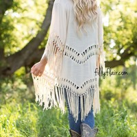 Saturday Vibes Kimono in Cream