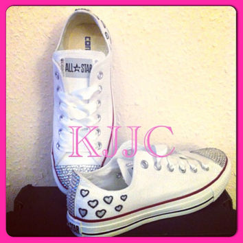 Converse and Wedding Converse / Vans / Nike / Pumps Silver Swarovski Diamonte / Diamante Hand Made To Order US 5 - 10 UK 3- 8 AU 5 - 10