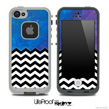 Mixed Pastel Colors and Chevron Pattern Skin for the iPhone 5 or 4/4s LifeProof Case