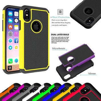 Heavy Duty Shock Proof Armour Defender Case Cover For Apple iPhone X Mobile