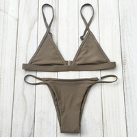 New Sexy Women Micro Bikini Set Bathing Suits With Halter Strap Swimwear Brazilian bikinis