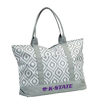 Licensed Kansas State Wildcats Official NCAA Ikat Tote by Logo Chair Inc. 056904 KO_19_1