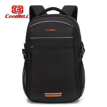 "Cool Backpack school Cool Bell Laptop bag for 15.6""17.3"" Laptop Backpack USB charging Business bag Leisure bag student bag  shipping AT_52_3"